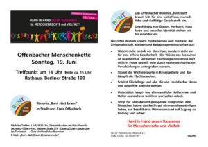 Aufruf Offenbacher Menschenkette gegen Rassismus