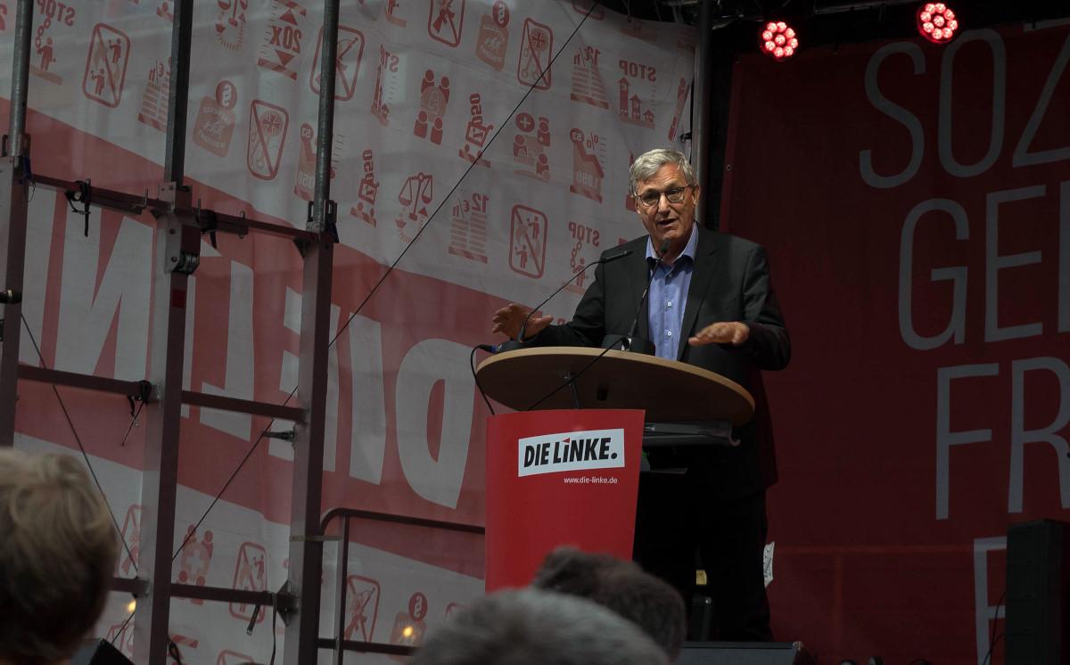 DIE LINKE Hauptwache Frankfurt BTW2017 zentrale Wahlkampfveranstaltung
